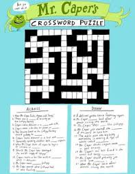 the great lollipop caper by dan krall mr capers crossword puzzle activity sheets