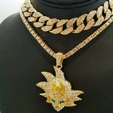 14k gold plated iced out chains