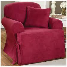 sure fit cotton duck armchair t cushion slipcover reviews wayfair