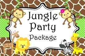 Safari Party Invitations Jungle Theme Invitation Birthday Party Invitations Jungle Zoo Safari