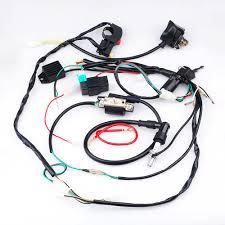 full wiring harness loom start switch kit pit bike atv 4 go kart 110Cc Wiring Harness at Pit Bike Wiring Harness Kits