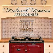 Small Picture Meals and Memories Kitchen Quote Vinyl Wall Decal Sticker