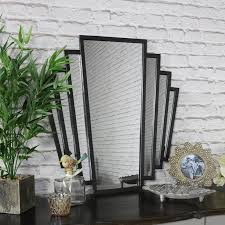 black art deco fan style wall mirror 55 5cm x 59cm