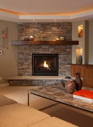 image result for 2017 living room photos using a river rock fireplace
