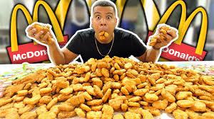 insane 1000 mcdonald s en nuggets challenge impossible 200 000 calories
