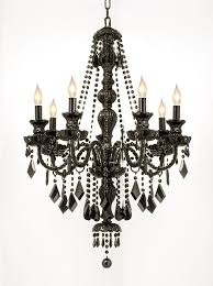 chandelier outstanding black crystal chandeliers black chandelier with clear crystals black crystal chandeliers with black