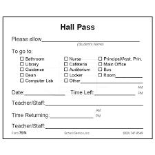 School Hall Pass Template Hall Pass Template For Teachers Bigminds Info