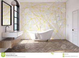 White Bathroom Yellow Pattern Lamps Stock Illustration Image - Yellow and white bathroom