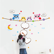 Small Picture DCTOP Colorful Home Decor Owls Wall Stickers For Kids Rooms