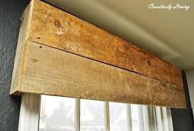 Diy Wood Valance Diy Rustic Window Valances By Creatively Living Blog