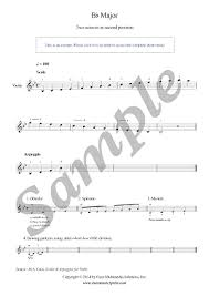 B Flat Violin Finger Chart Violin B Flat Major Scale Arpeggio Grade 3