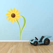 sunflower printed wall decal