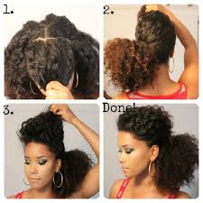 how to low puff natural hairstyle low puff natural curly hairstyles on um length hair