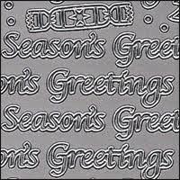 Seasons Greetings Words Silver Peel Off Stickers 1 Sheet 0 79