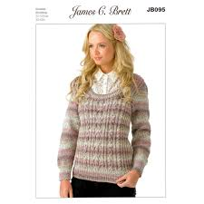 Jumper Pattern Impressive Buy Jumper JB48 Knitting Pattern James C Brett Marble DK