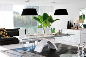 black kitchen dining sets: modern white kitchen dining set with x base glass top dining table and white high