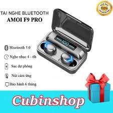 Tai nghe Bluetooth Amoi F9 Pro không dây Bluetooth 5.0 3500mA Cảm ứng vân  tay Hiển thị pin kỹ thuật số