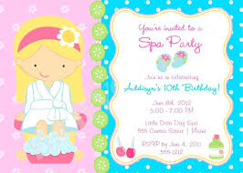 Printable Spa Party Invitations Free Pamper Party Invitation