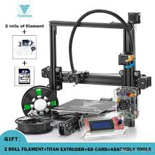 2018 new tevo tarantula 3d printer diy kit reprap prusa i3 impresora 3d printer with 2 rolls 3d filament titan extruder free scanner for 3d printer best