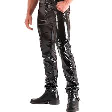 2019 zogaa skinny faux pu leather pants men shiny trousers nightclub stage performance singers r jeans from viviant 31 82 dhgate com