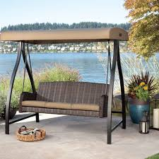 ideas patio furniture swing chair patio. furniture patio swing canopy cover backyard and outdoor ideas black mesh three person oil rubber bronze chair s