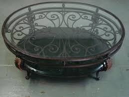 wrought iron and glass coffee table round wrought iron glass coffee table