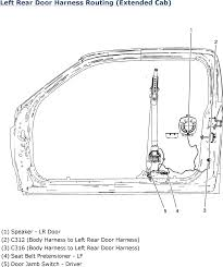 repair guides wiring systems (2007) harness routing views Speaker Harness Autozone left rear door harness routing (extended cab) (2007) 4X6 Car Speakers Auto Zone