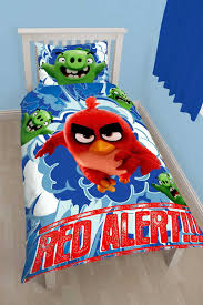 angry birds red panel single duvet cover set reversible