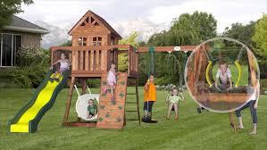 backyard discovery tanglewood photo of 20 backyard discovery oakmont cedar wooden swing set ideas