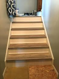 back stairs luxury vinyl plank on stair nose installation flooring