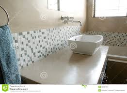 White Mosaic Bathroom Modern Bathroom Sink With White Mosaics Stock Photography Image