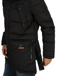 Superdry Size Chart Us Superdry Chinook Parka Jacket Jet Black