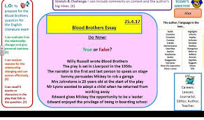 blood brothers exam style essay question practice by  blood brothers exam style essay question practice by owl eyed resources teaching resources tes