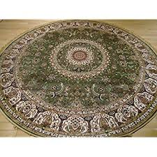 cheap round rugs. Stunning Green Silk Rug Persian Area Rugs 8x8 Circle Foyer Large Round Luxury Shape 8 Ft Cross Cheap