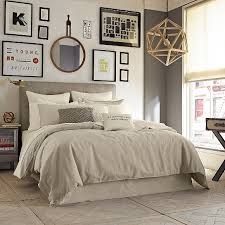 kenneth cole reaction home mineral linen cotton duvet cover in oatmealcontemporary bedroom new york