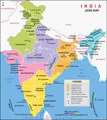 Zonal Map India