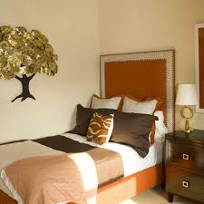 Brown and Orange Bedroom