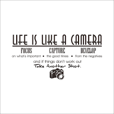 High Quotes Amazing High Quality Living Room Decoration Life Is Like A Camera Quotes