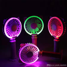 Cat 2 Led Lighting Cat Rechargeable Led Lighting Fan Electric Gadgets Handheld Twist Cat Fan Night Light Air Conditioner Cool Summer Cartoon Kids Novelty Toys