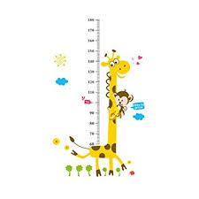 Kindergarten Height Chart Amazon Com Whitelotous 180cm 6ft Height Chart Stickers