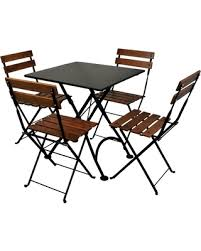 french cafe wood chairs. furniture designhouse french cafe bistro chestnut wood 5 piece square metal folding patio dining set chairs d