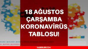 Son Dakika... 18 Ağustos Çarşamba koronavirüs tablosu açıklandı! 18 Ağustos  Türkiye'de bugün koronavirüsten kaç kişi öldü? 18 Ağustos Corona tablosu! -  Haberler