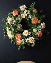 ... Arrangement English Garden Rose Wreath