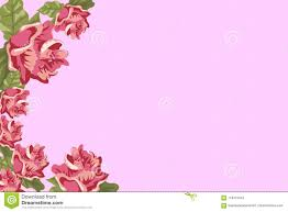 Flower Edge Design Photo Frame Pink Rose Flowers And Buds On The Edge