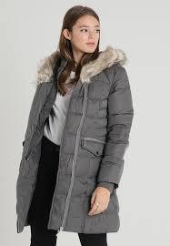 yarmouth long padded winter coat dark grey