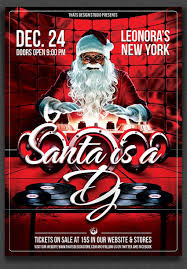 amazing christmas and new year s eve flyers for the holiday season santa is a dj flyer template