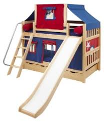 bunk bed with slide and tent. Laugh Boy Twin Over Slat Slide Tent Bunk Bed - Active Little Boys Have A Lot Of Energy To Expend. The With And I