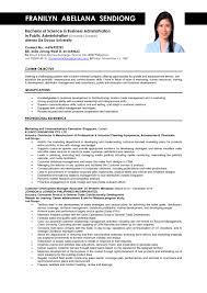 Sample Resume Objectives Business Administration New Ultimate Sample