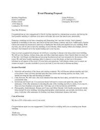 Event Planning Proposal 20 The Event Planner Proposal Letter You Should Read For