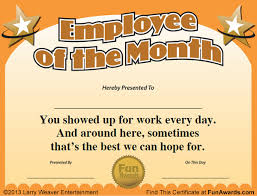 Employee Of The Month Template With Photo Download Employee Month Award Template Certificate Pdf Doc
